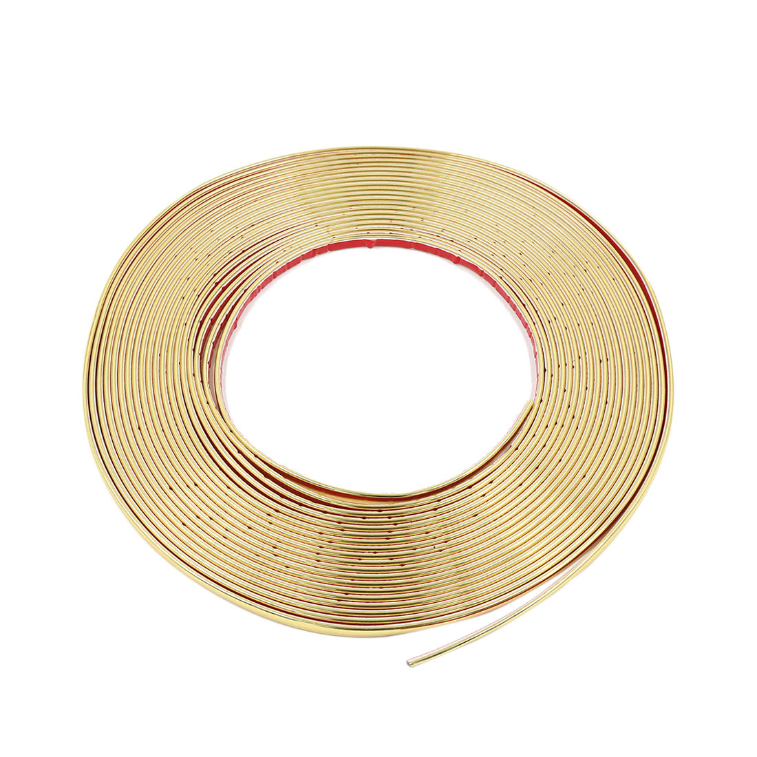 15m x 18mm Gold Tone Car Door Edge Guard Moulding Trim Strip Sticker Protector