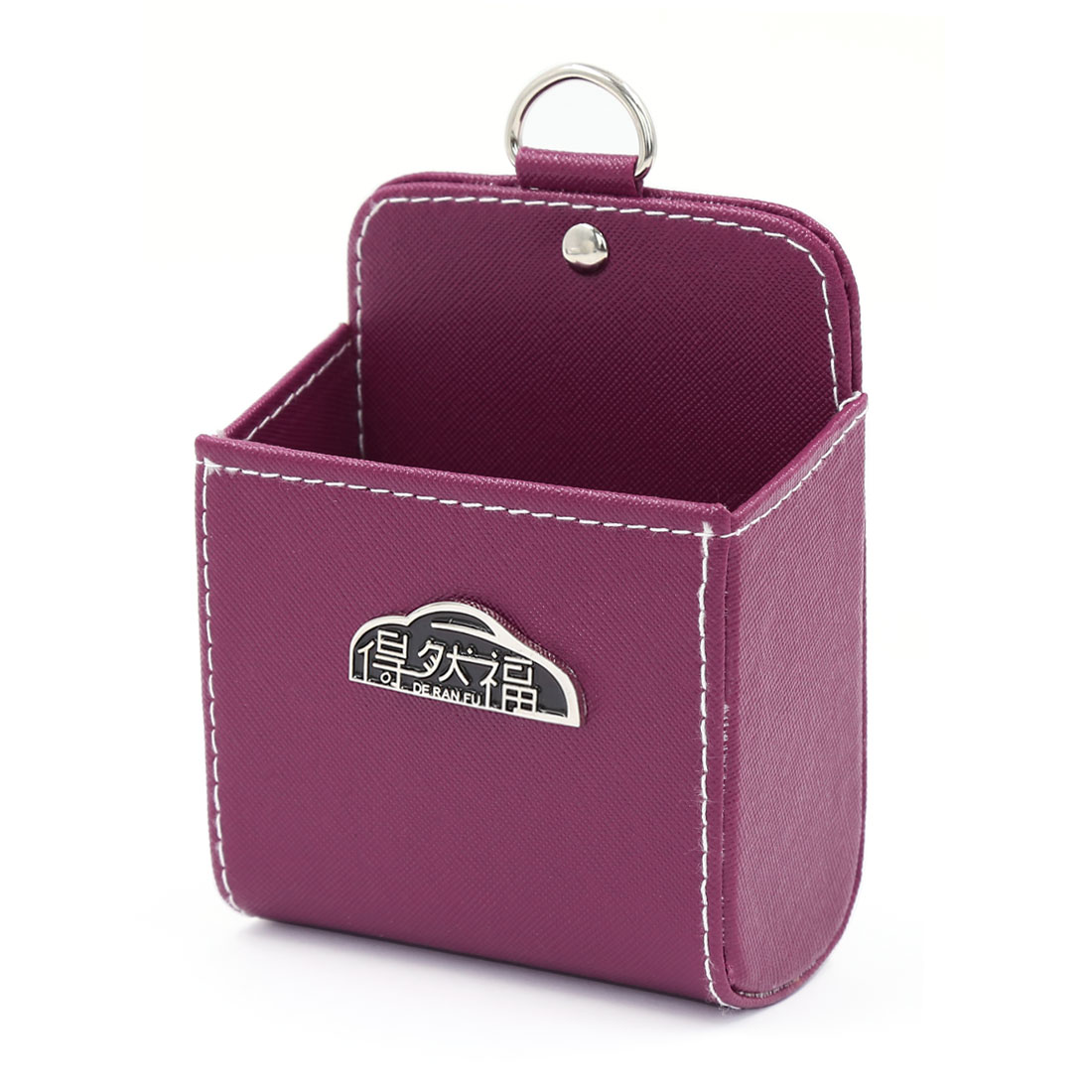 Mini Fuchsia Car Air Vent Storage Pocket MP4 Mobile Phone Pouch Holder Organizer