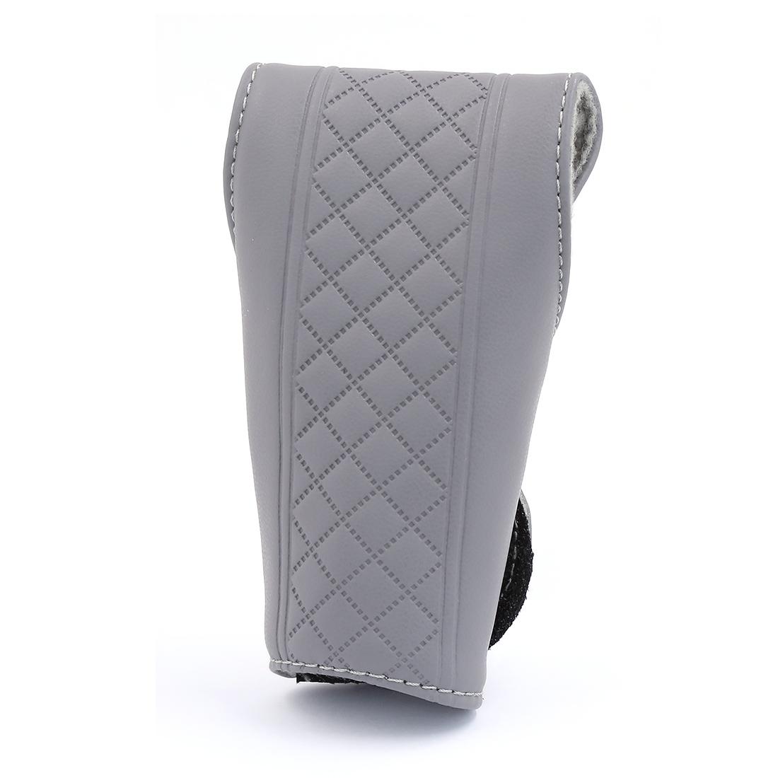 Universal Faux Leather Nonslip Detachable Closure Car Gear Shift Knob Cover Gray