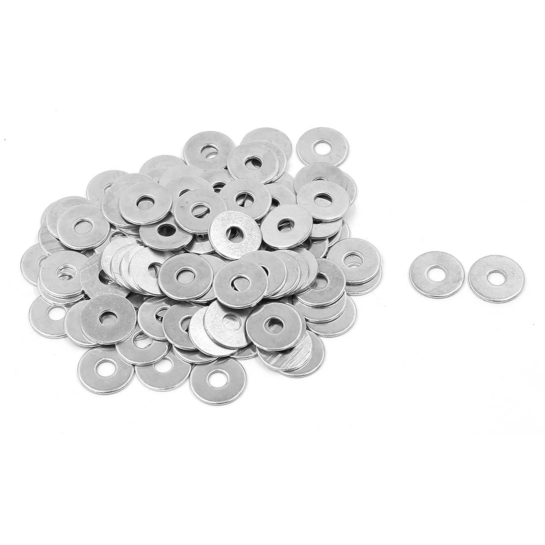 100 Pcs M6x20mmx1.4mm Stainless Steel Metric Round Flat Washer for Bolt Screw