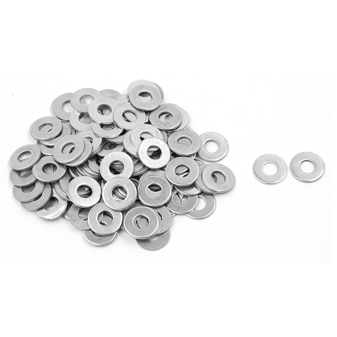100Pcs M8x20mmx1.5mm Metal Metric Round Flat Washer for Bolt Screw