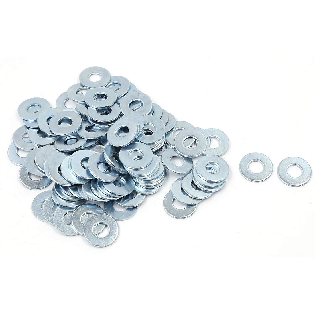 100 Pcs M10x24mmx1.7mm Stainless Steel Metric Round Flat Washer for Bolt Screw