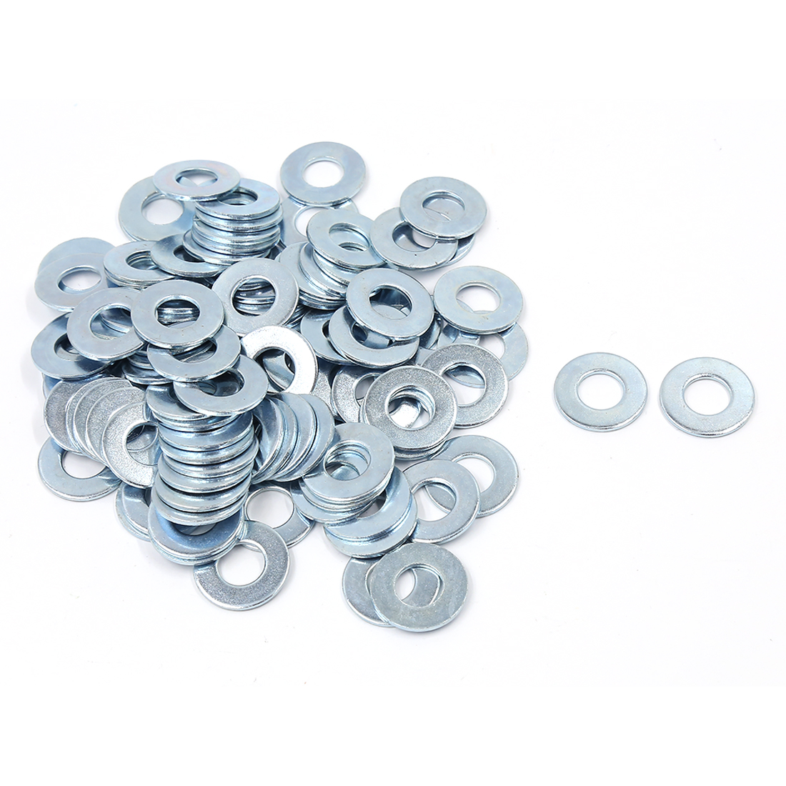 100 Pcs M12x26mmx1.7mm Stainless Steel Metric Round Flat Washer for Bolt Screw