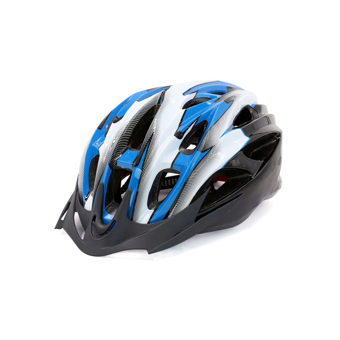 Women Men Adjustable Strap Red LED Head Protector Safety Helmet for Bicycle MTB
