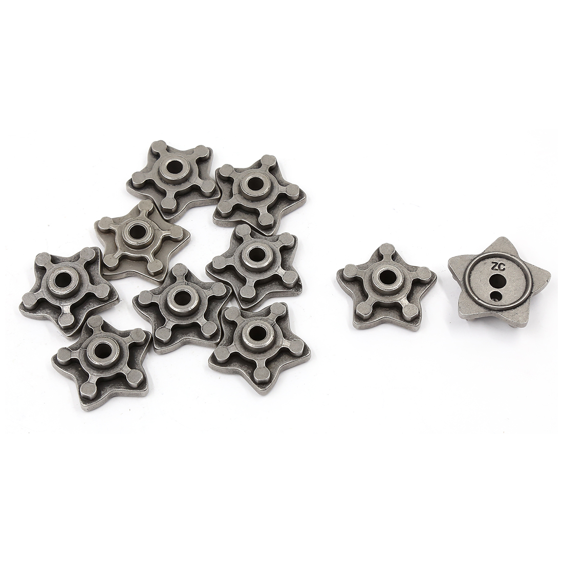 10 Pcs Gray Metal Star Shaped Motorcycle Engine Speed Gear Shift Cam for CG125