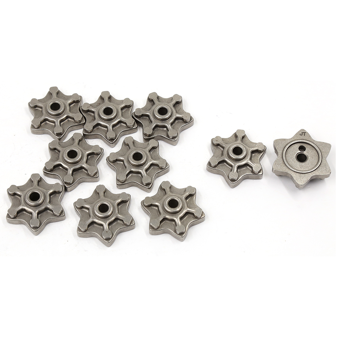 10 Pcs Gray Metal Six Angle Star Shaped Motorcycle Engine Speed Gear for CG125