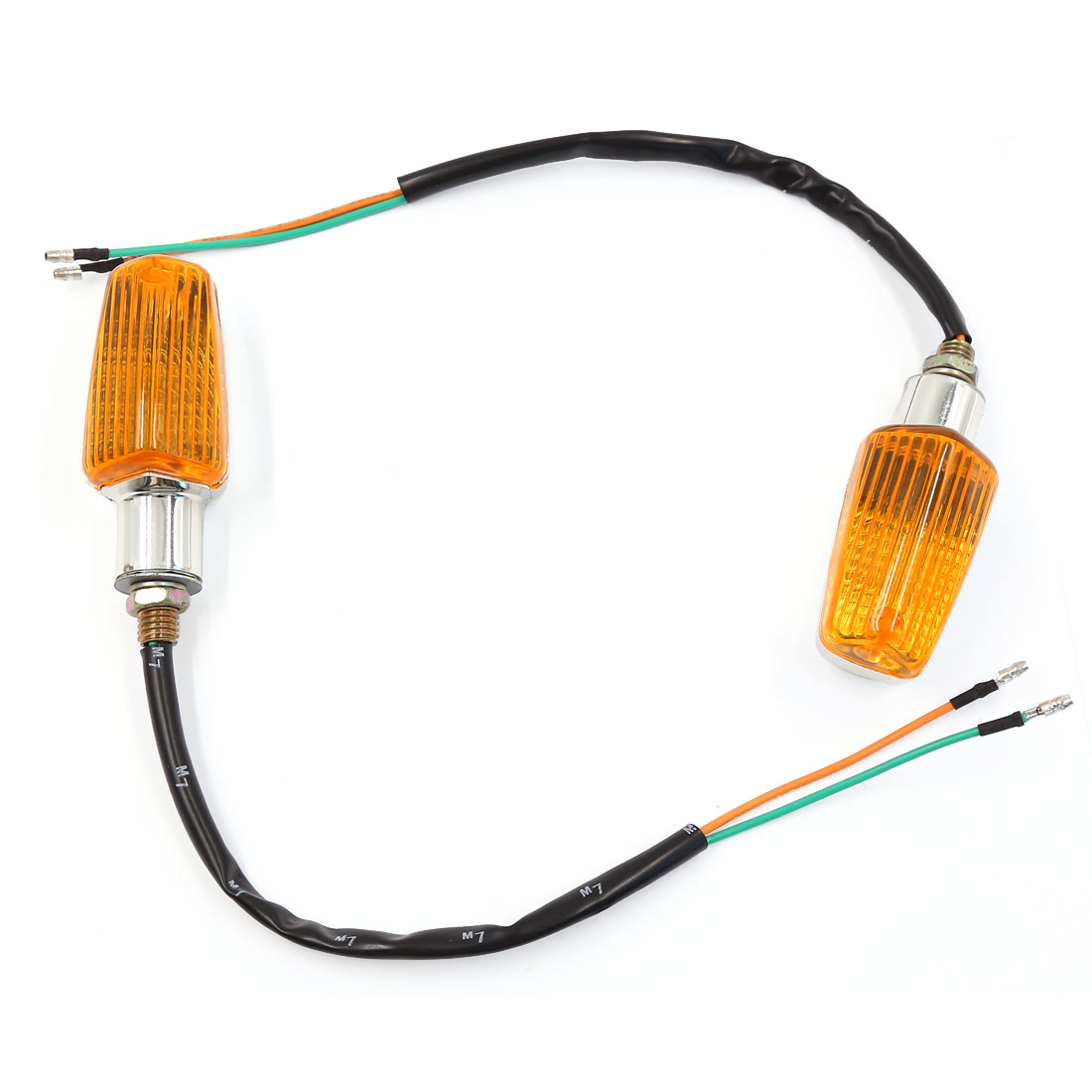 Motorcycle Yellow LED Turn Signal Light Indicator Lamp 2 Pcs for Suzuki