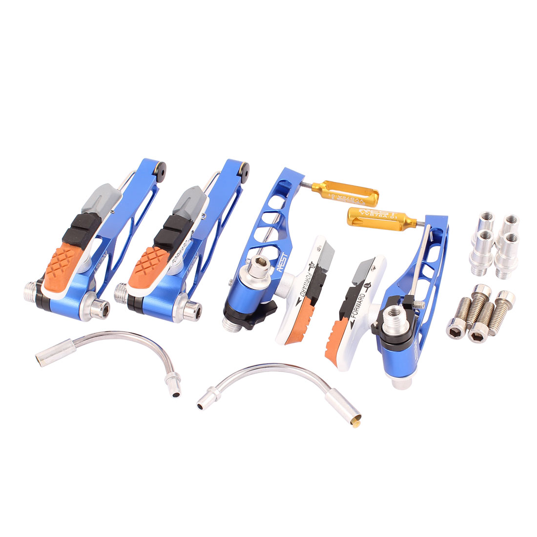 Blue Aluminum V Brake Caliper Set for MTB Mountain Bike Bicycle