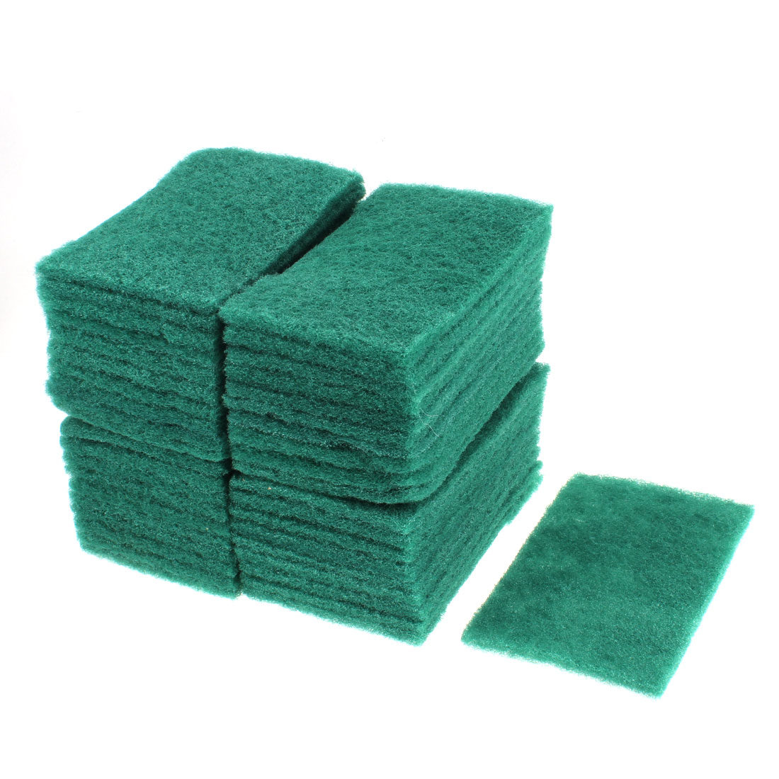 Kitchen Sponge Bowl Dish Wash Cleaning Pad 145mm x 97mm Green 40pcs