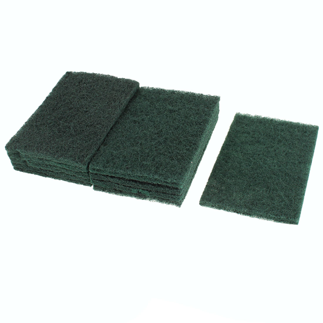 Home Sponge Bowl Dish Wash Cleaning Pad 147mm x 100mm Amy Green 10pcs