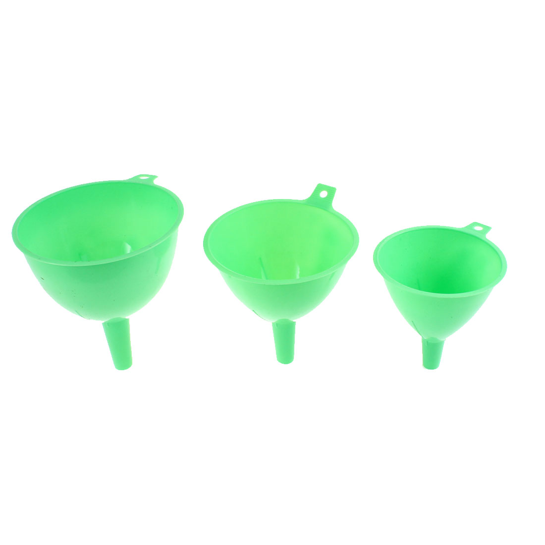 Kitchen Plastic Wine Liquor Water Filter Funnels Set Green 3 in 1
