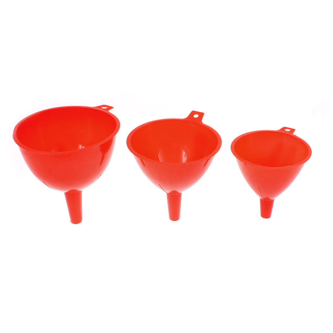 Plastic Wine Liquor Water Refilling Filter Funnels Set Red 3 in 1