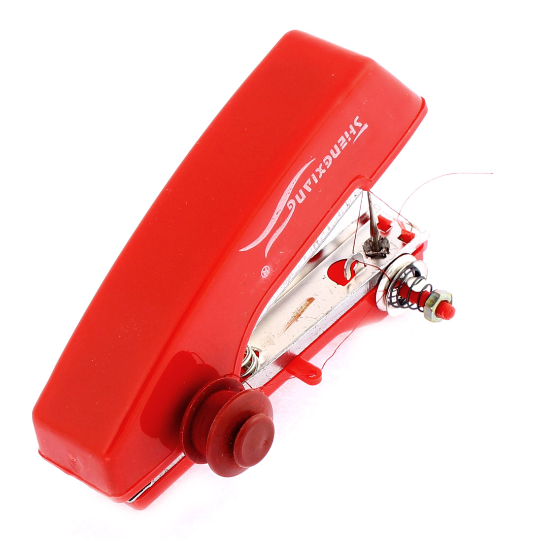 Plastic Tailor Clothes Stitch Mini Portable Handheld Sewing Machine Red