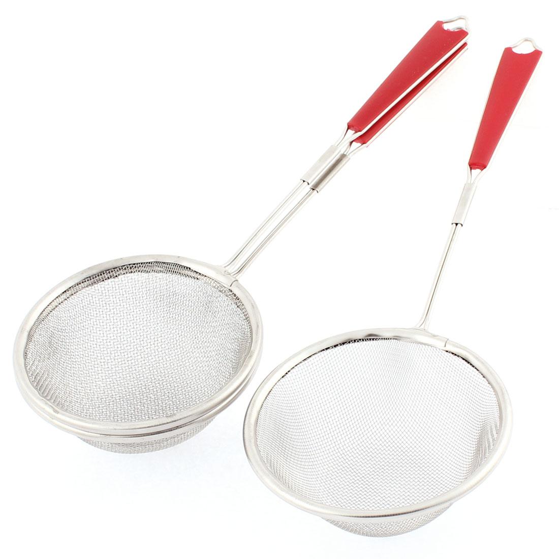 Household Stainless Steel Mesh Strainer Ladle Sifter 85mm Dia 3 Pcs