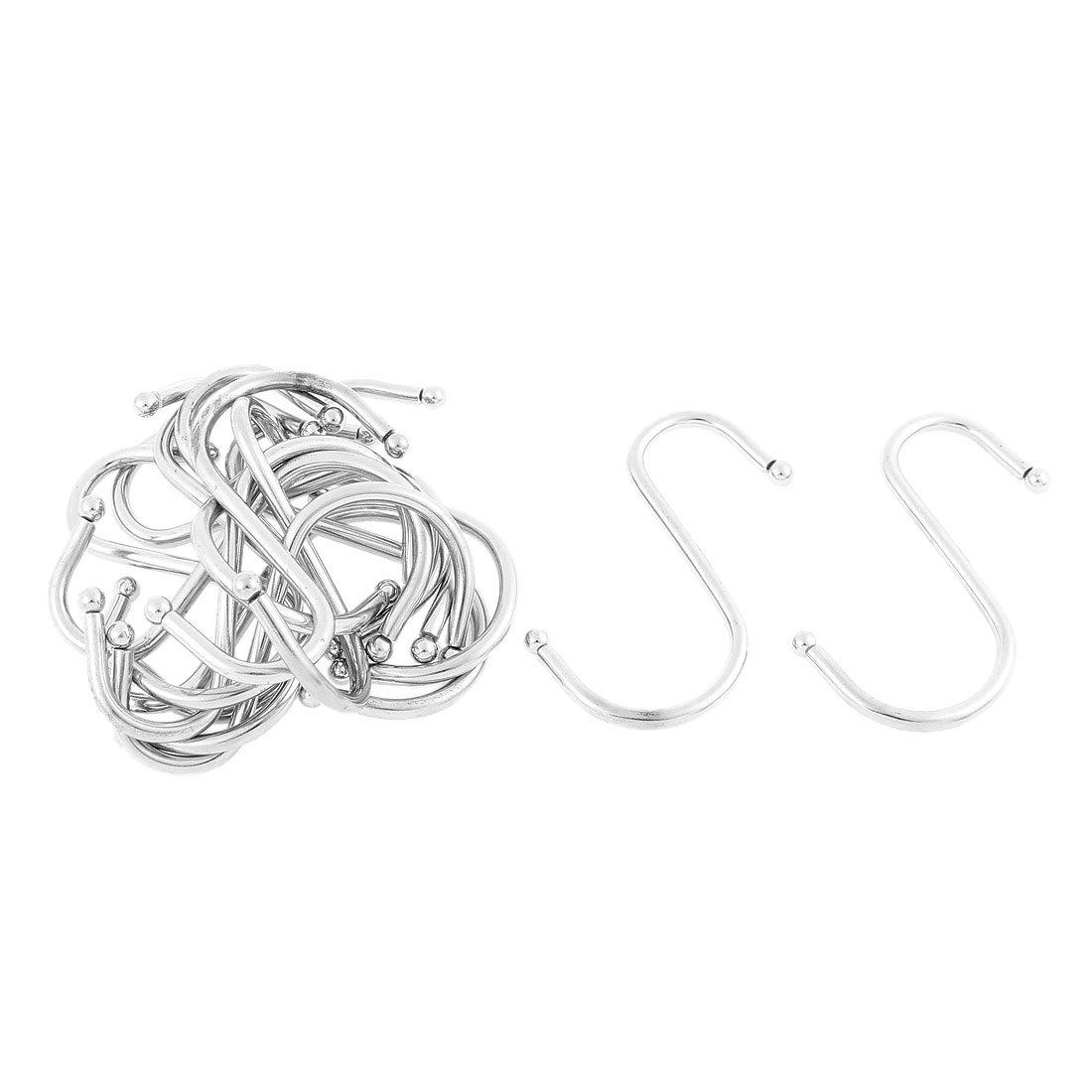 Home Metal S Shaped Hanger Clasp Hooks 2.5 Inch Length 15 Pcs