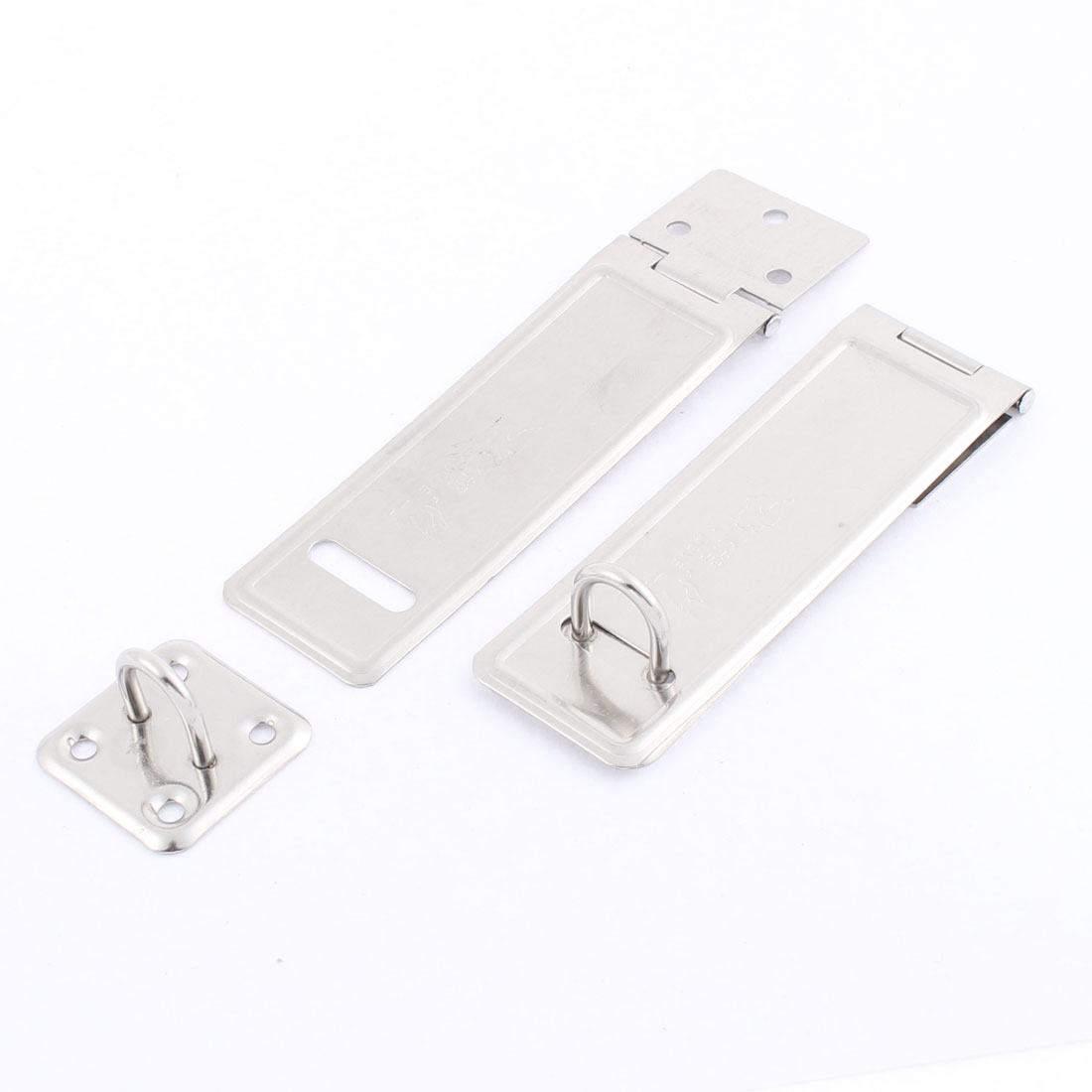 Home Door Stainless Steel Padlock Hasp Staple Set 12cm Length 2 Pcs