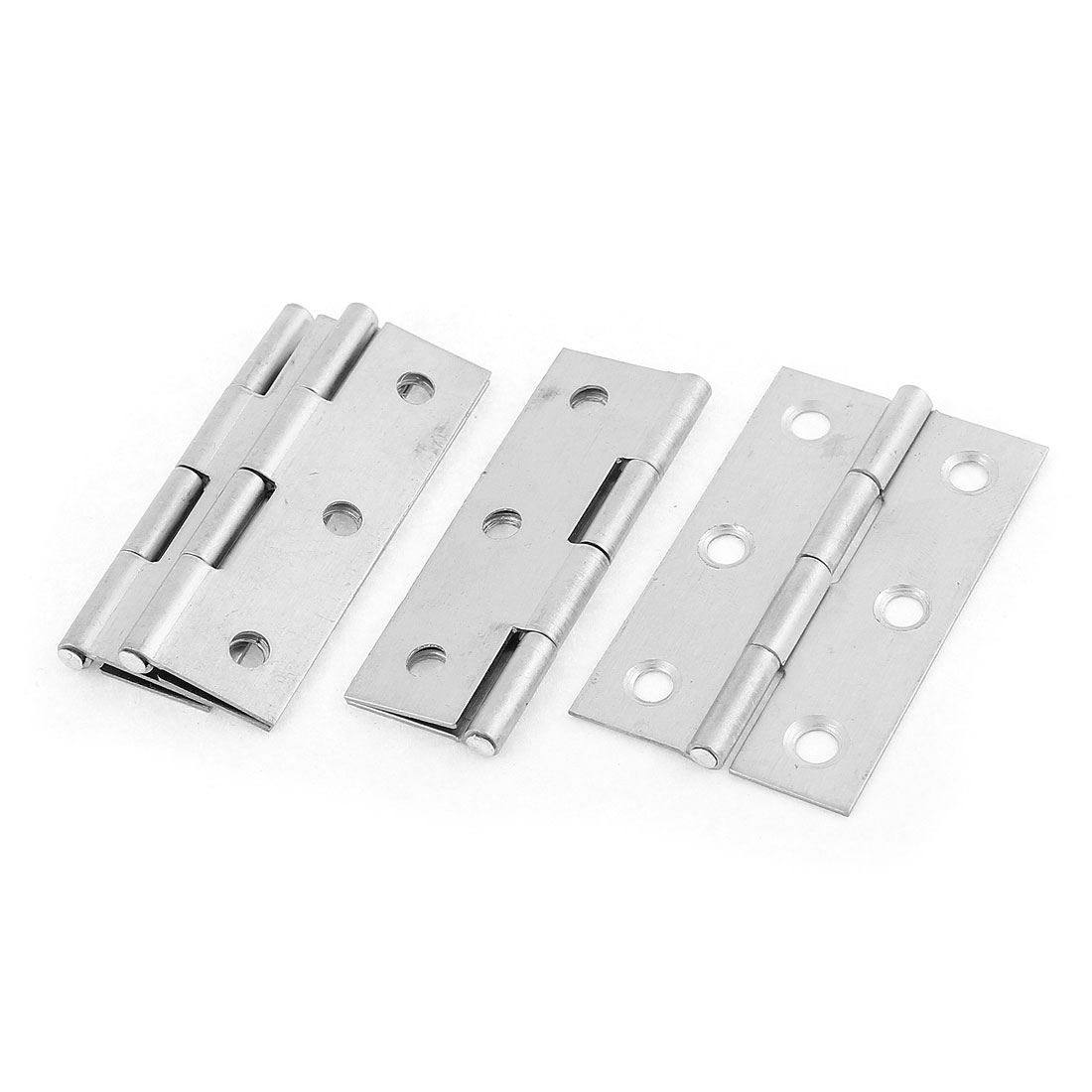 4 Pcs 55mmx34mm Stainless Steel Foldable Closet Cabinet Door Butt Hinge