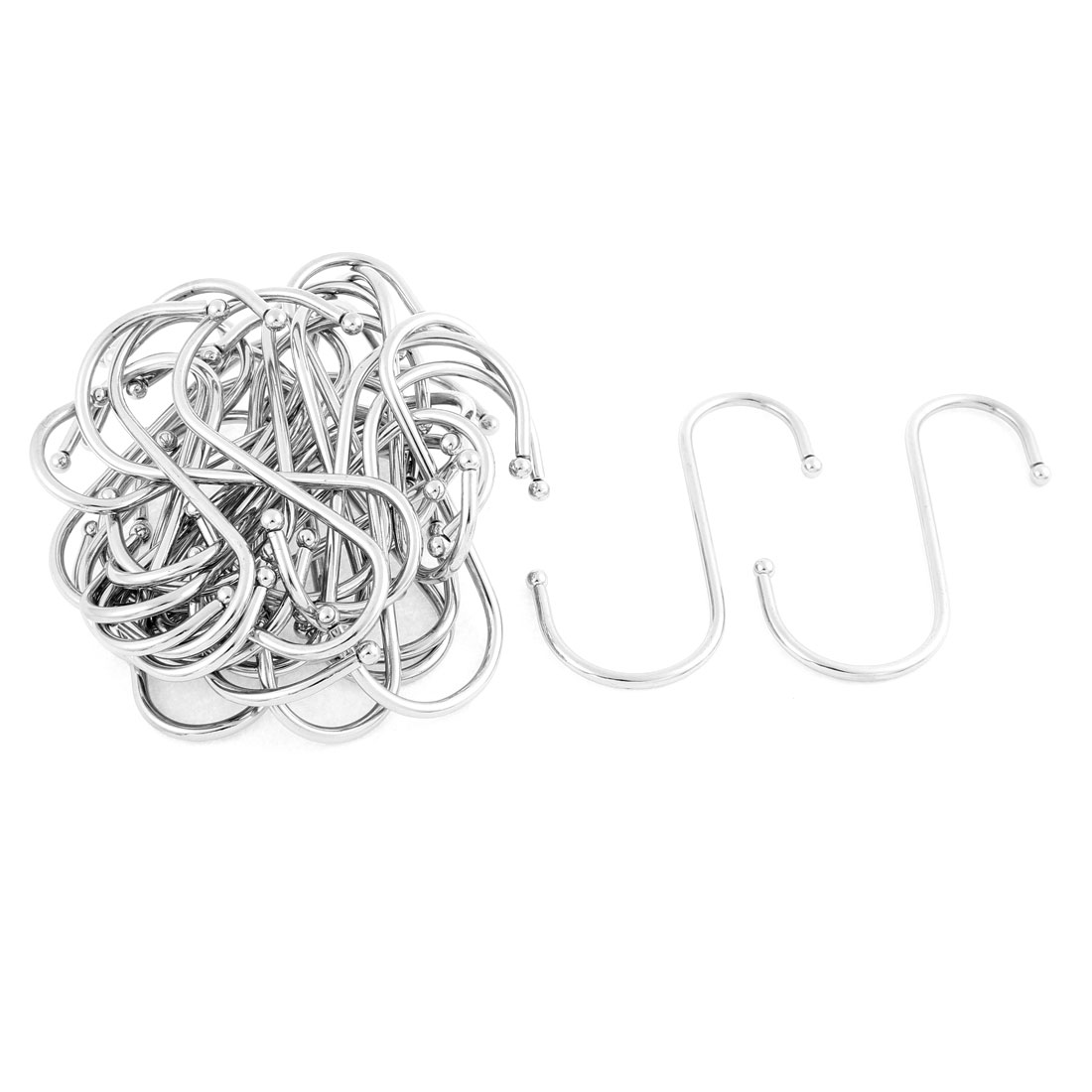 Bedroom Stainless Steel S Shaped Hanging Clasp Hooks 4 Inch Length 30 Pcs