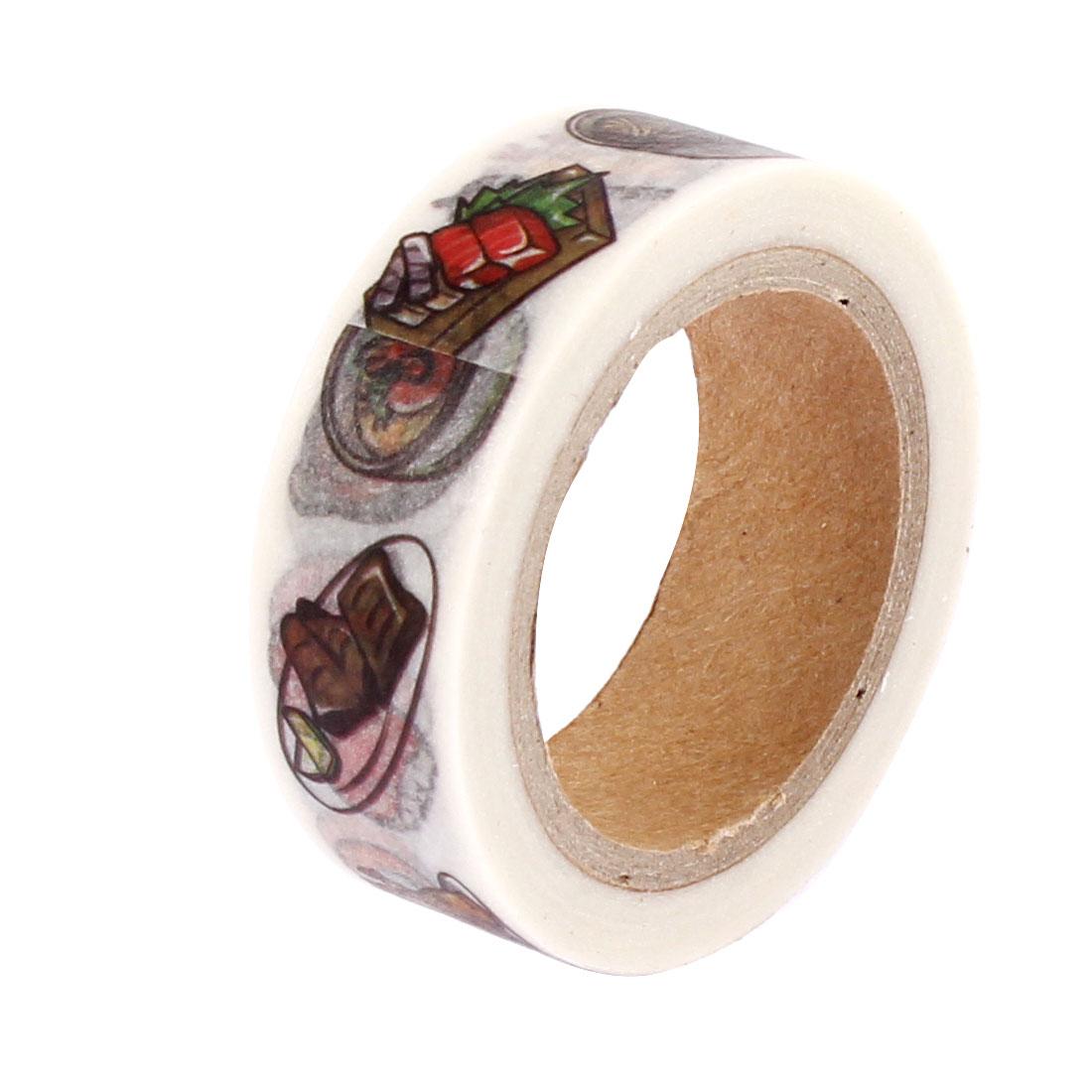 Sushi Pattern Sticky Paper Self Adhesive Decorative Tape Sellotape
