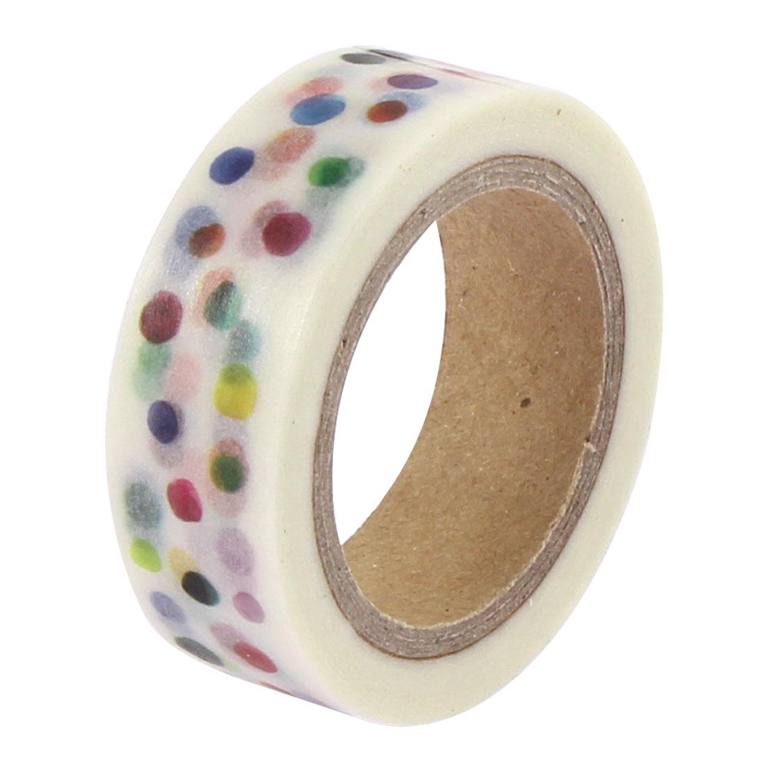 Polka Dot Pattern Sticky Paper Self Adhesive Decorative Tape Sellotape