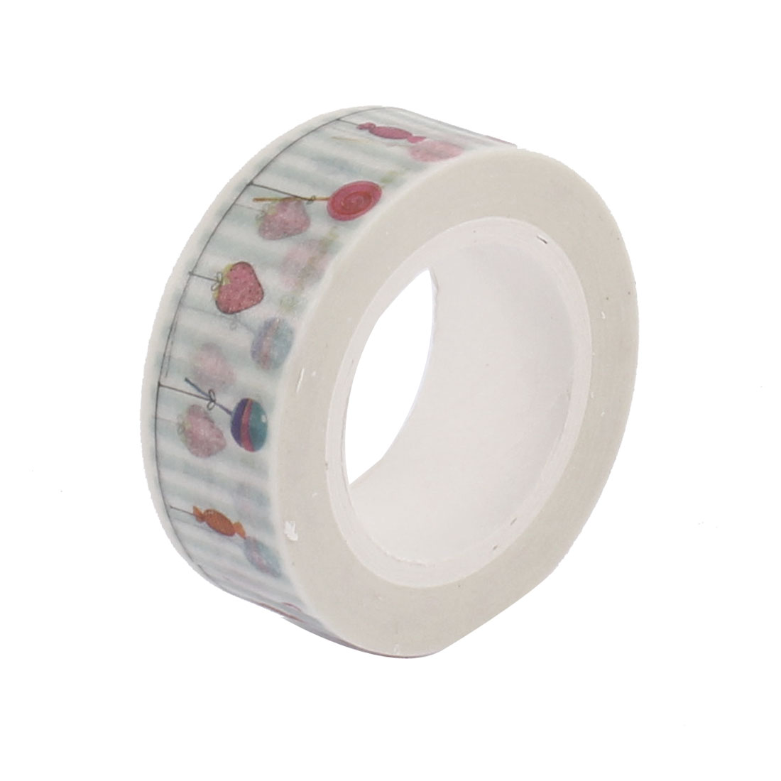Candy Pattern Self Adhesive Decorative Tape Sellotape 10m Long 15mm Width