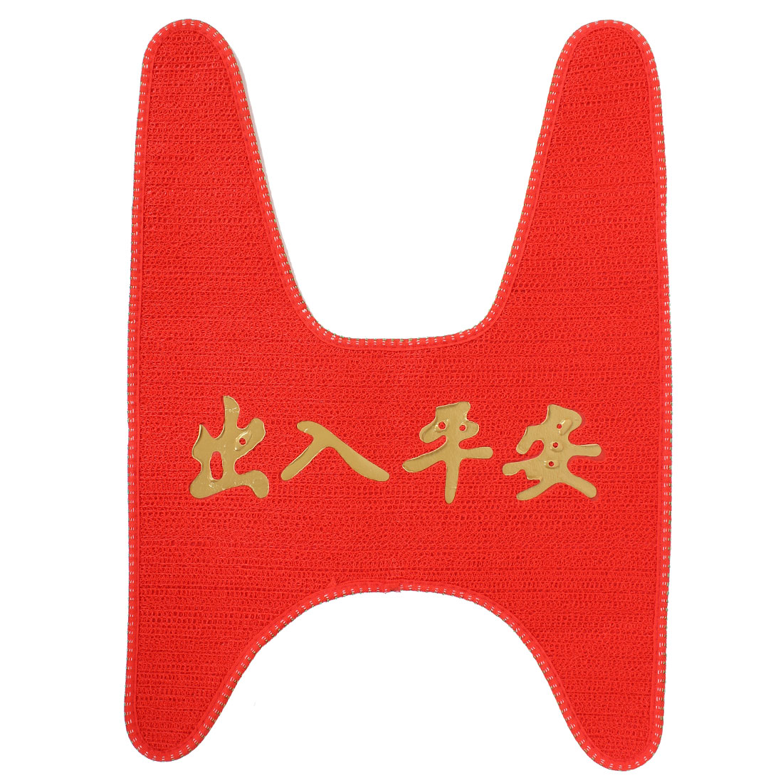 Women Motorcycle Scooter Foot Skid Pad Carpet Floor Mat Red