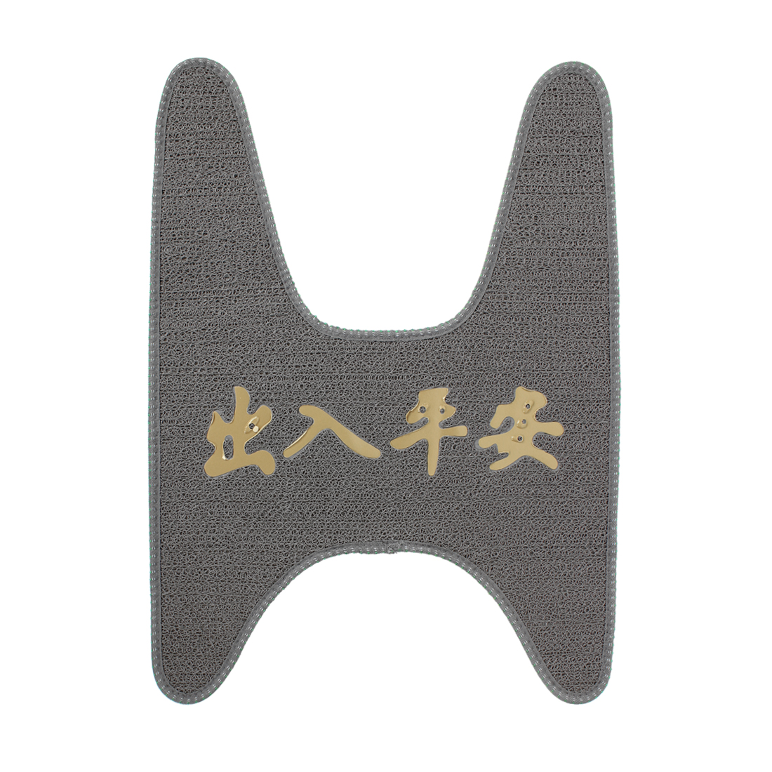Women Motorcycle Scooter Foot Skid Pad Carpet Floor Mat Gray