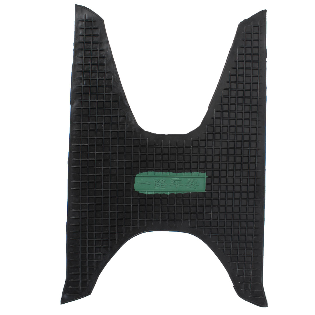 Black Rubber Motorcycle Scooter Foot Skid Pad Carpet Floor Mat
