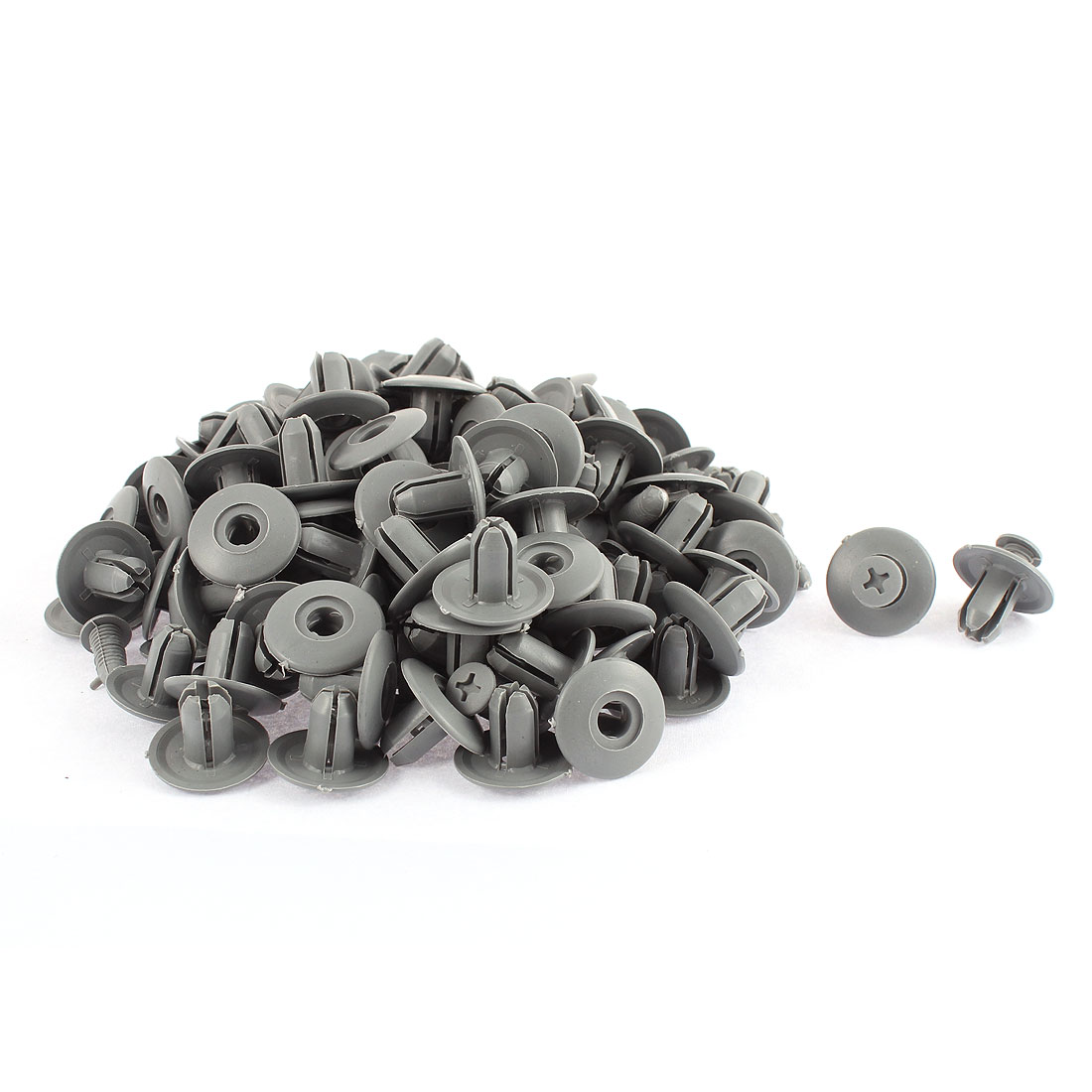 100 Pcs Gray Plastic Screw Rivet Lining Trim Panel Retainer Fastener Clips