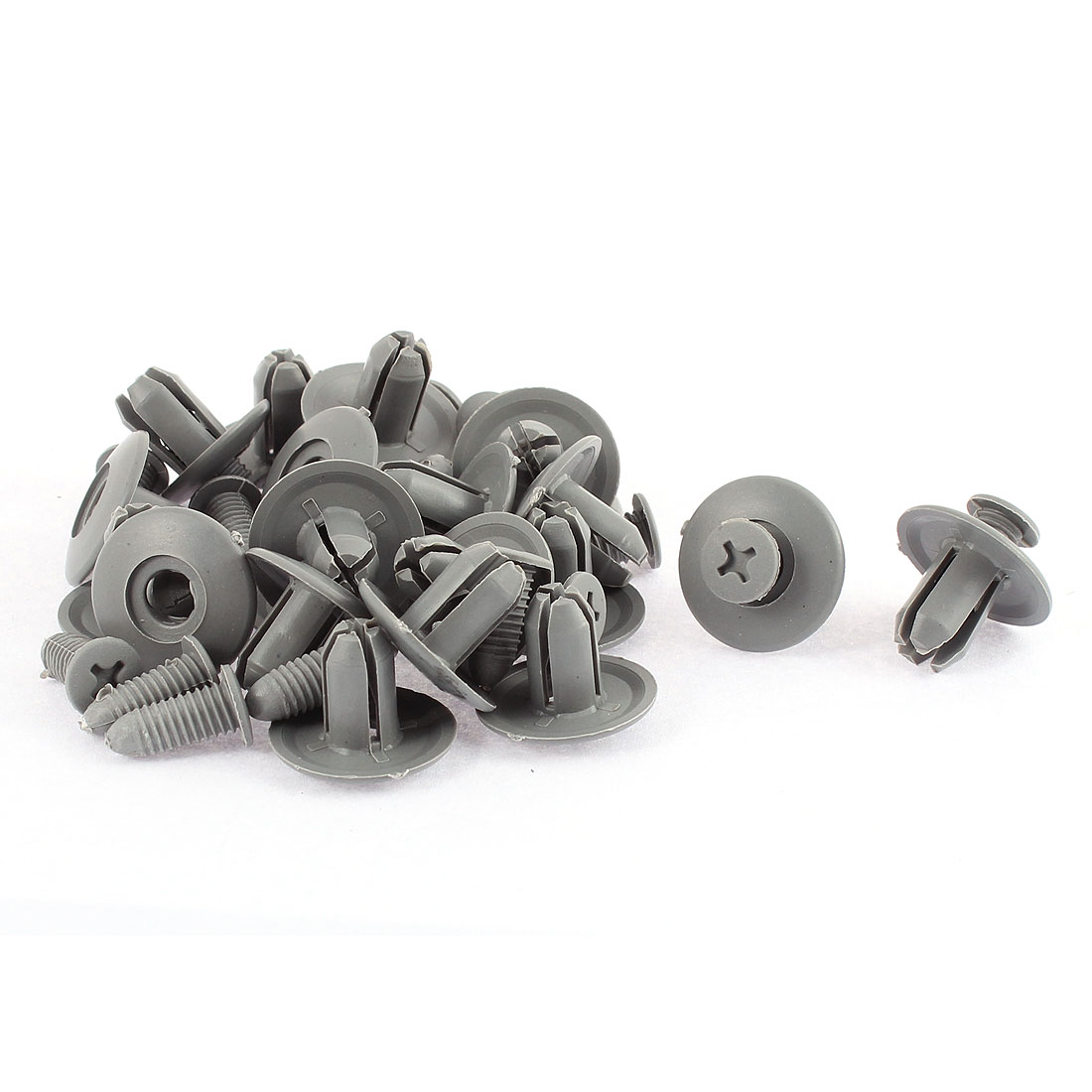 20 Pcs Gray Plastic Screw Rivet Lining Trim Panel Retainer Fastener Clips