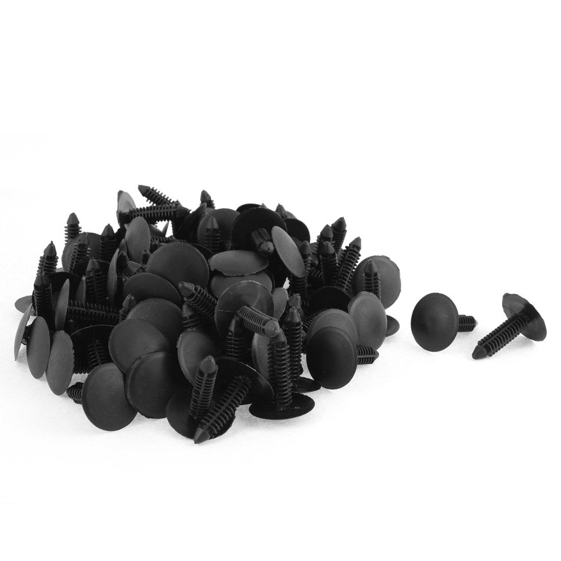 100 Pcs Black Plastic Rivet Buckle Ceiling Lining Trim Panel Retainer Fastener Clips