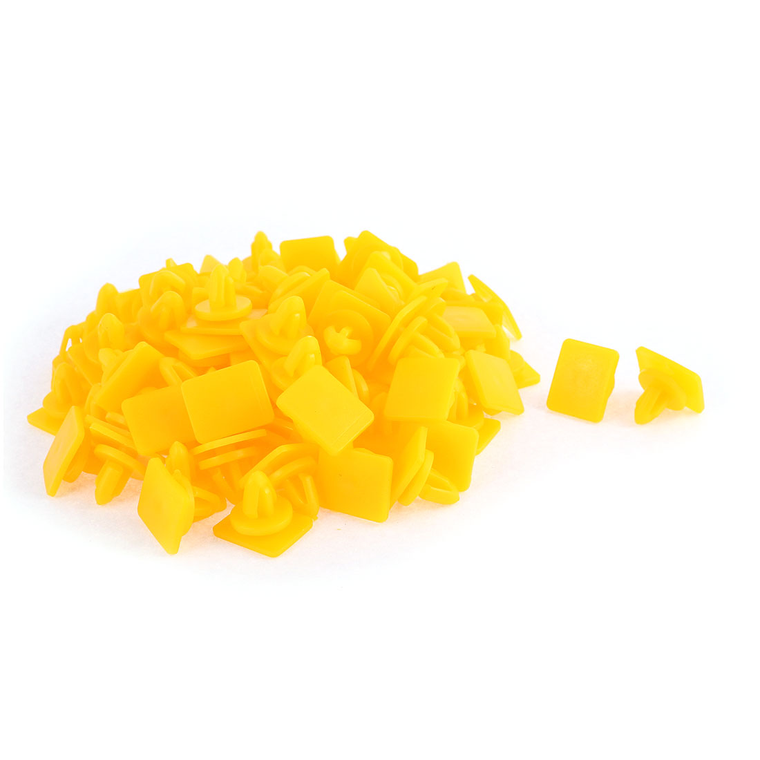 100 Pcs Yellow Plastic Bumper Rivet Fender Panel Clips for Hyundai