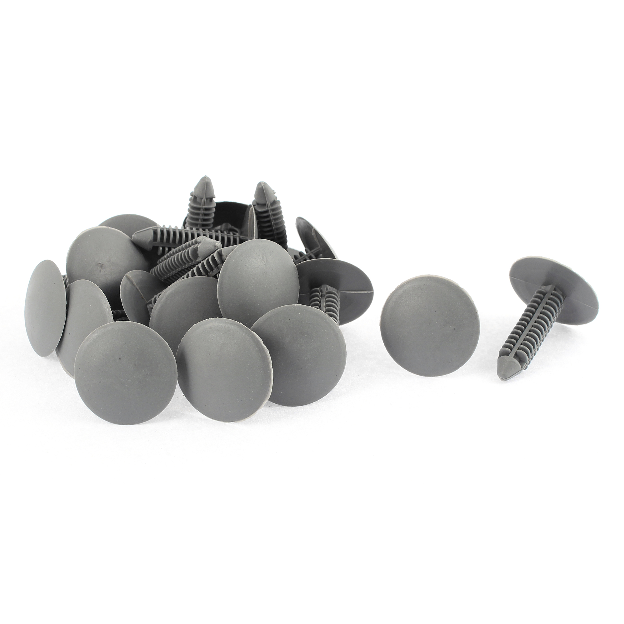 20 Pcs Gray Plastic Rivet Buckle Ceiling Lining Trim Panel Retainer Fastener Clips