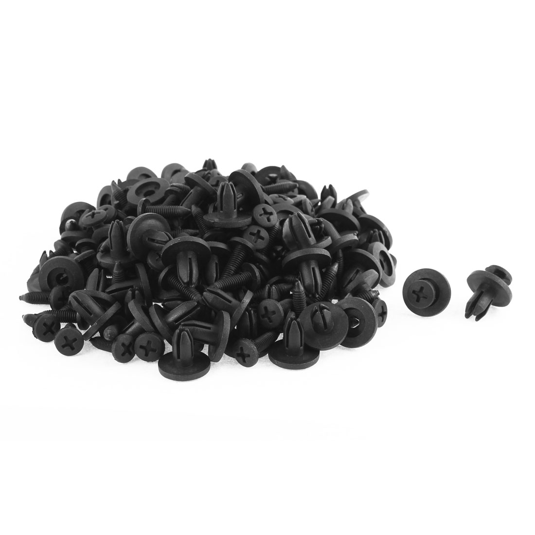 100 Pcs Black Plastic Screw Rivet Lining Trim Panel Retainer Fastener Clips