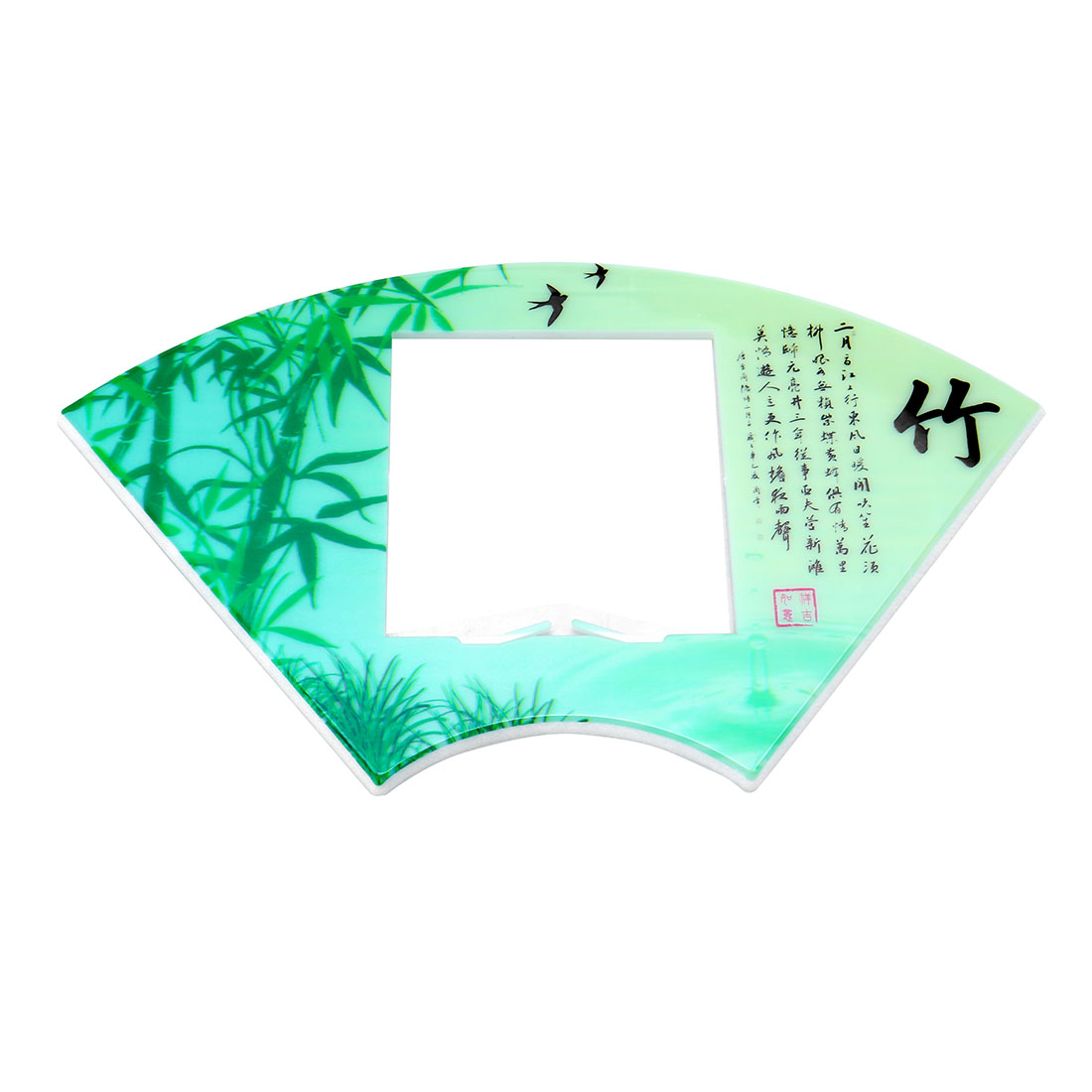 Bamboo Printed Fan Shape Switch Stickers Cover