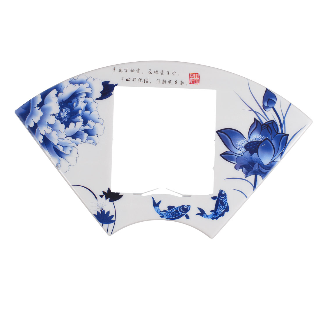 Fish Flowers Printed Fan Shape Switch Stickers Cover