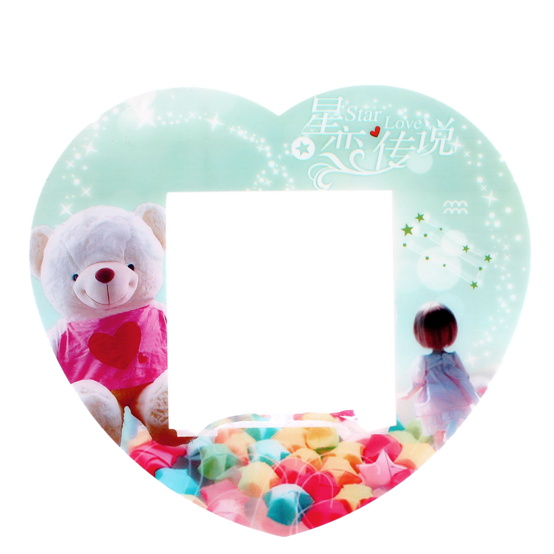 Girl Bear Printed Plastic Switch Sticker Cover Socket Decoration
