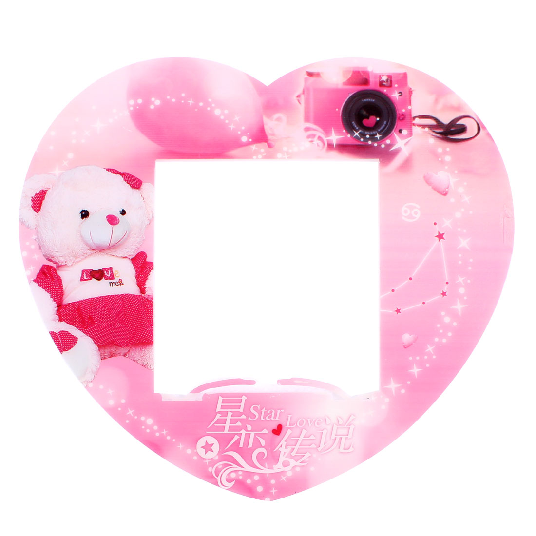 Heart Shaped Plastic Switch Stickers Cover Socket Decoration Pink