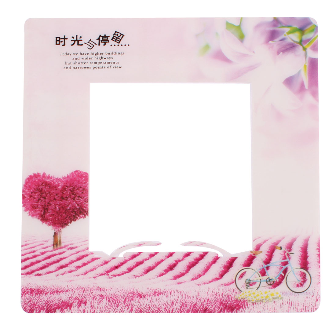 Flower Grass Pattern Square Shape Switch Sticker Cover Socket Protector