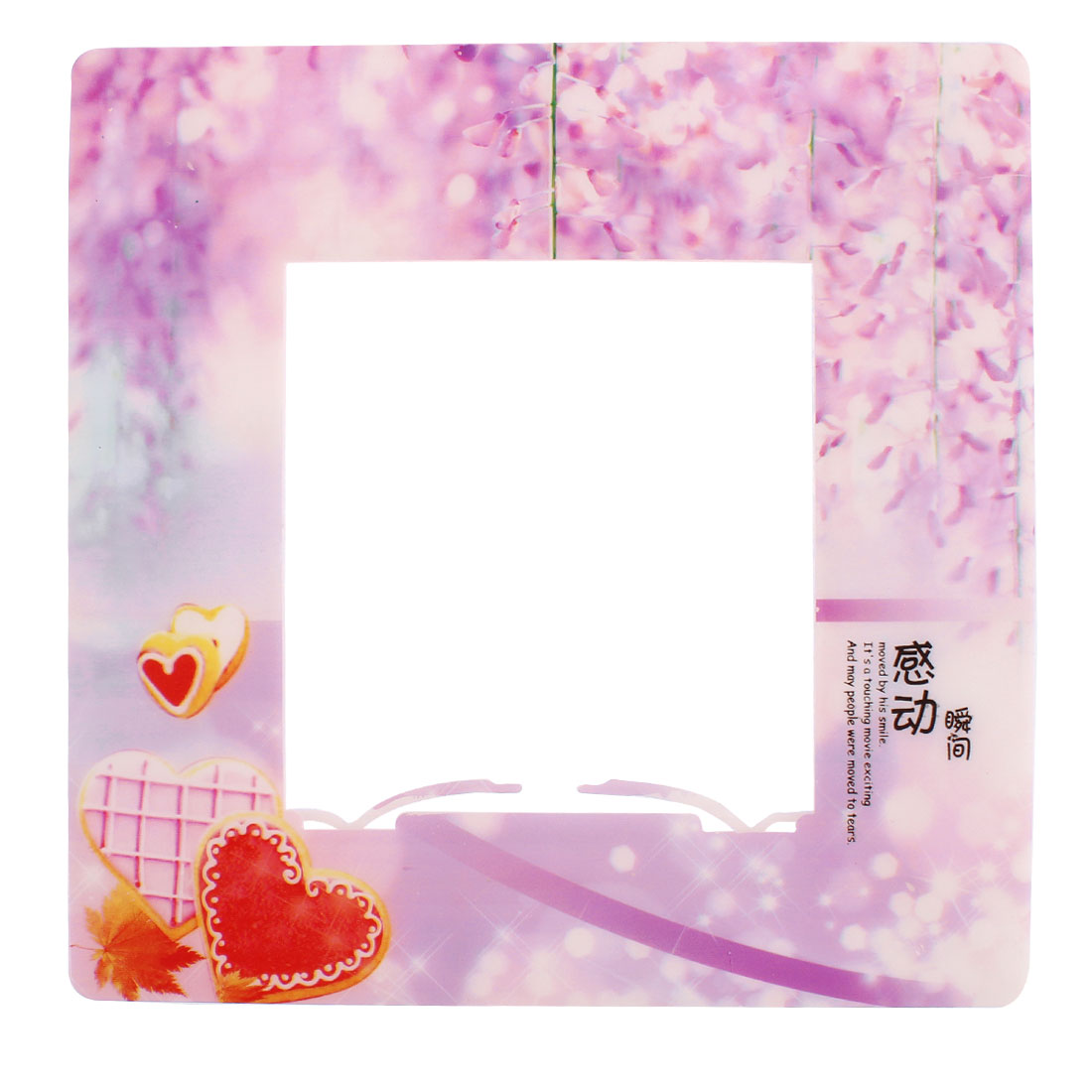 Peach Blossom Pattern Square Shape Wall Stickers Socket Cover
