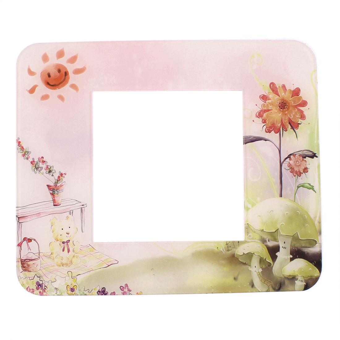Sunflower Printed Rectangle Shaped Plastic Switch Stickers Cover Protector