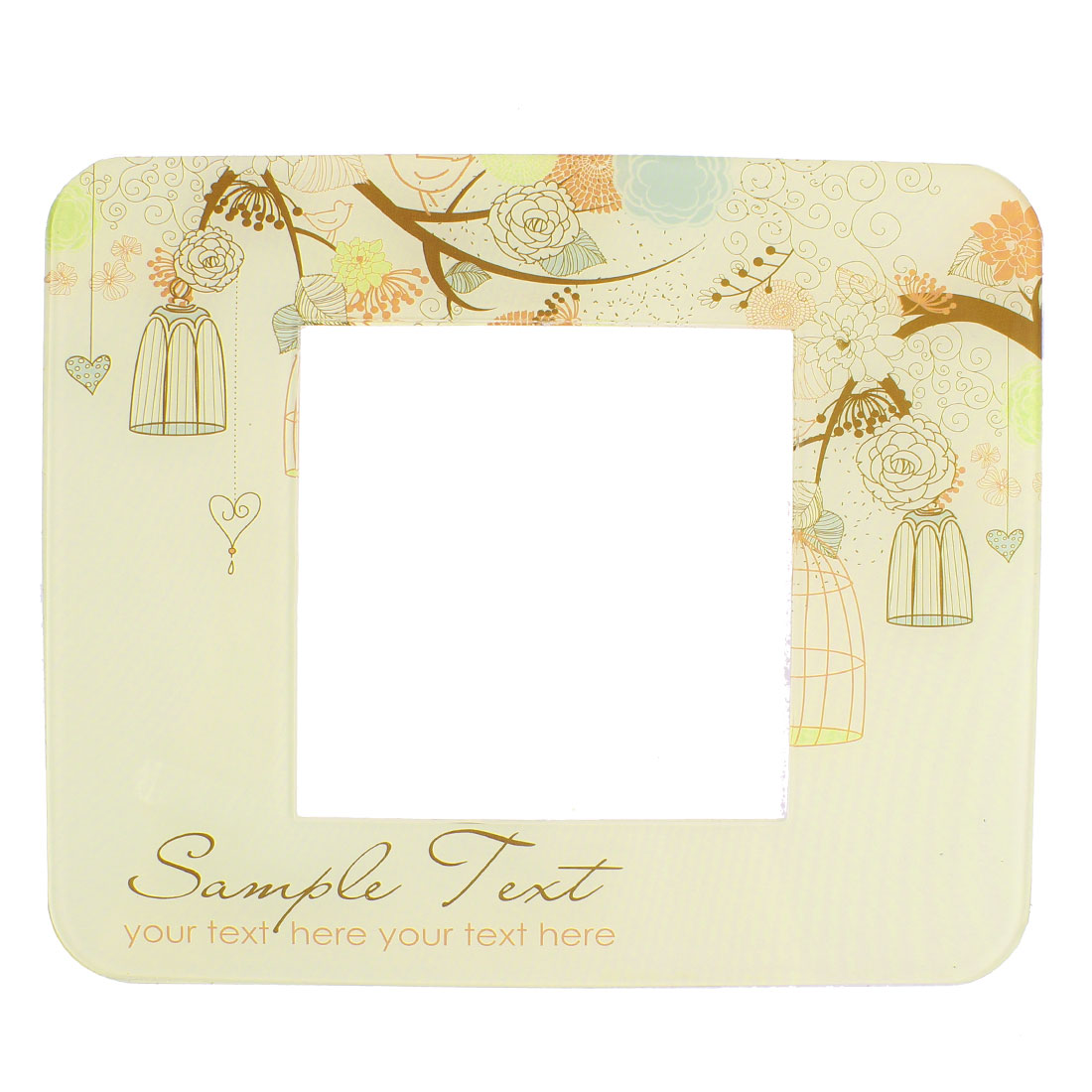Bird Cage Printed Light Switch Power Socket Sticker Cover