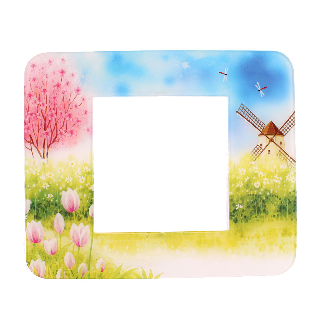 Home Wall Windmill Flowers Printed Switch Sticker Cover