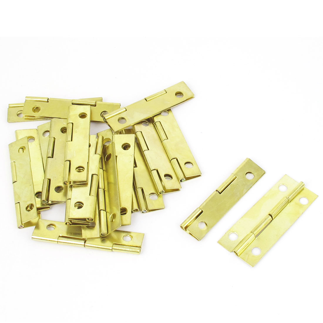 Home Furniture Cupboard Cabinet Gate Foldable Door Butt Hinges Gold Tone 20pcs