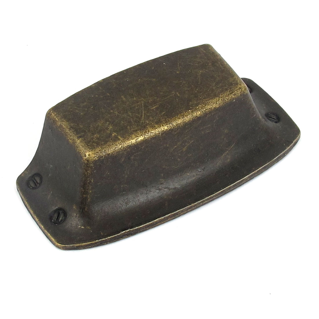 Shell Shaped Square Cabinet Cupboard Bin Metal Door Pull Handle Knob Bronze Tone