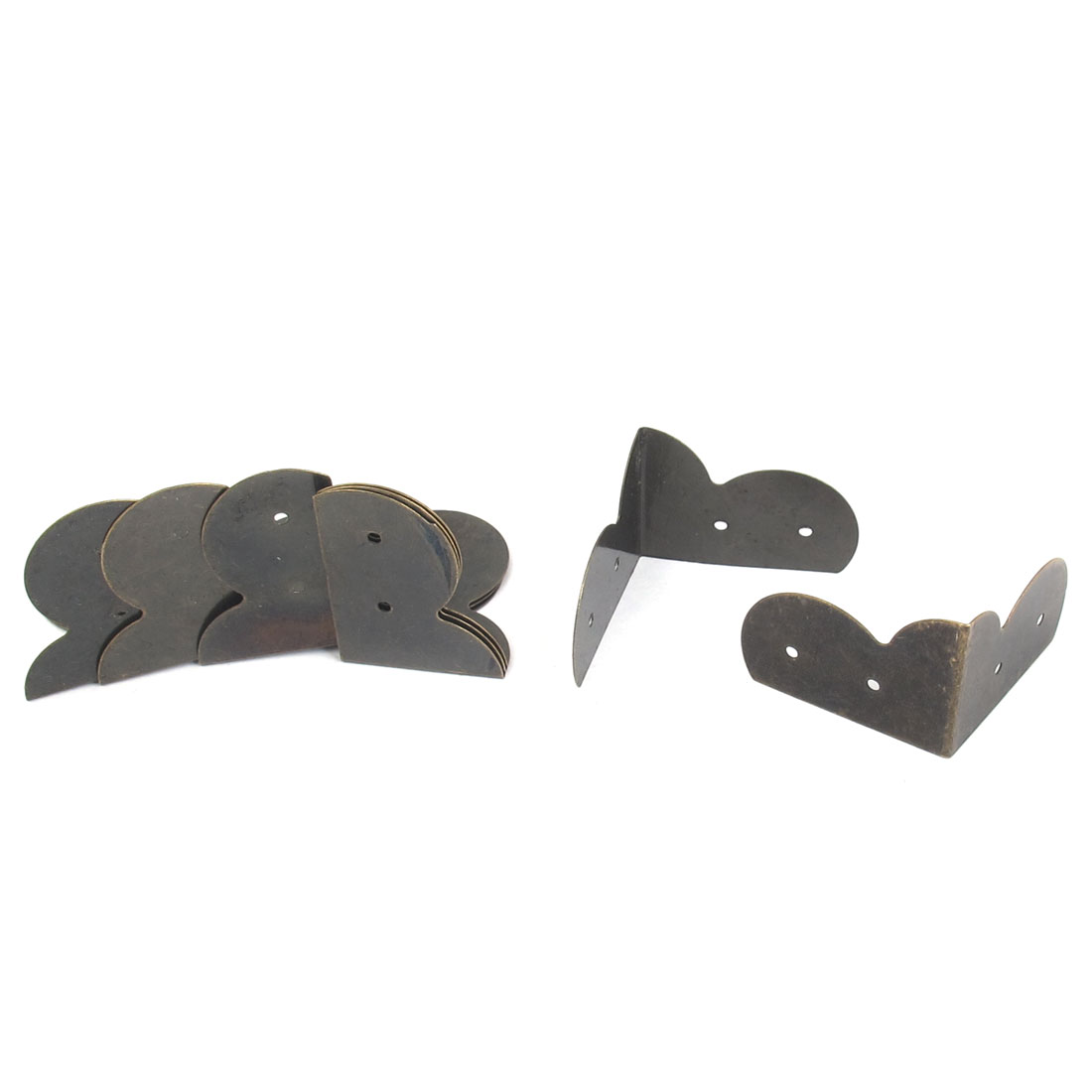 30mmx30mm Box Desk Edge Cover Corner Angle Brackets Braces Protectors Decorative Bronze Tone 8pcs