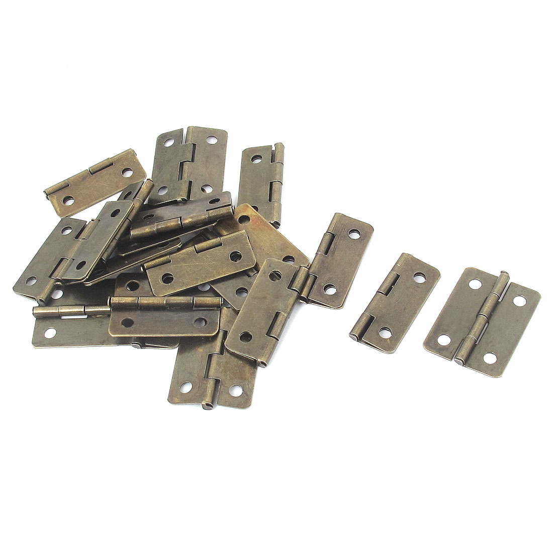 "1"" Length Foldable Screw Mounting Door Butt Hinges Hardware Bronze Tone 20pcs"