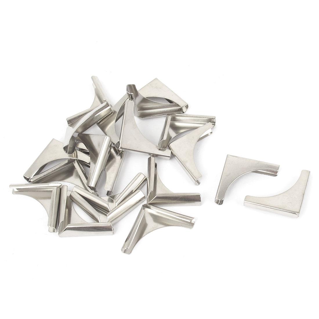 Book Photo Album Scrapbooks Metal Angle Corner Bracket Protector Silver Tone 20pcs