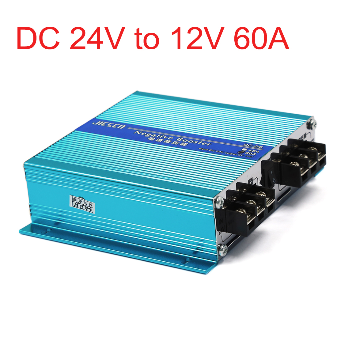 Blue Metal DC 24V to 12V 60A Vehicle Car Power Supply Transformer Converter