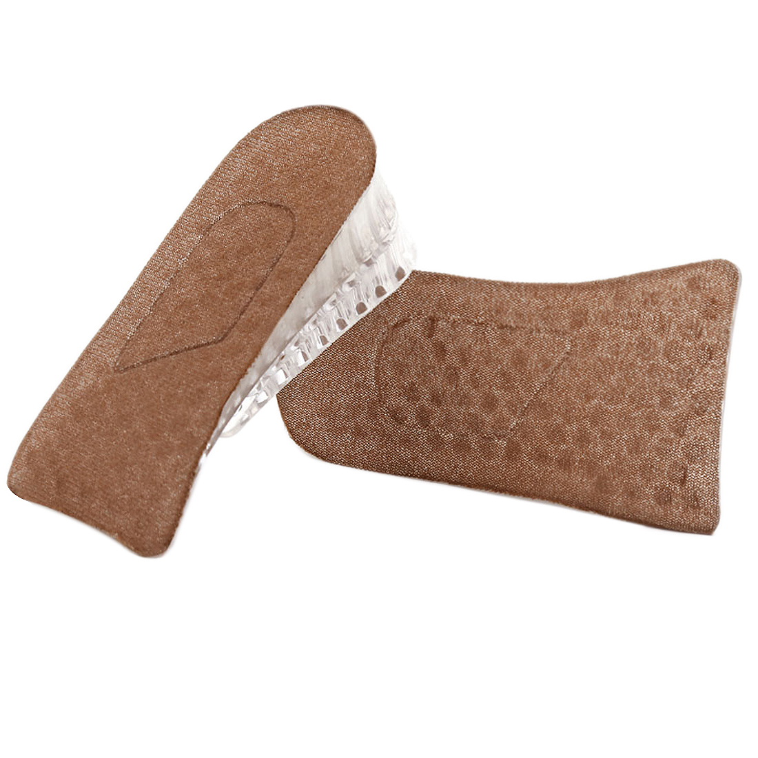 "Women Detachable Honeycomb Design Two Layers 1.5"" Height Increase Insole Brown"